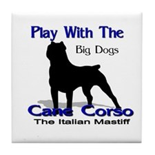 cane Corso Let's Play Tile Coaster