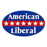 American Liberal Oval Car Sticker
