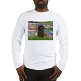 Monet's Lilies & Affenpinsche Long Sleeve T-Shirt