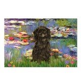Monet's Lilies & Affenpinsche Postcards (Package o