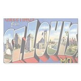 ST. Louis Postcard Rectangle Decal