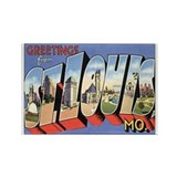 ST. Louis Postcard Rectangle Magnet
