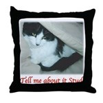 Valentine Kitty Throw Pillow
