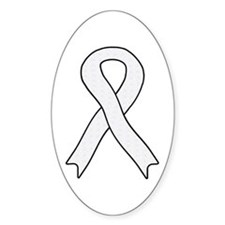 Pearl Ribbon Oval Decal