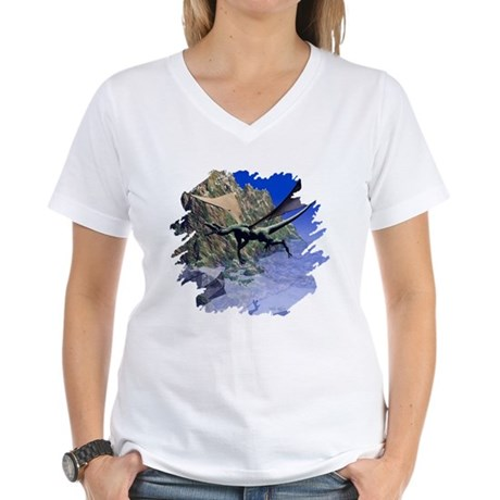 Flying Dragon Women's V-Neck T-Shirt
