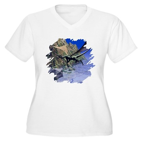 Flying Dragon Women's Plus Size V-Neck T-Shirt