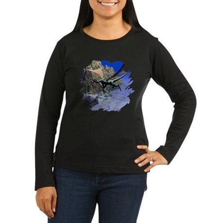 Flying Dragon Women's Long Sleeve Dark T-Shirt