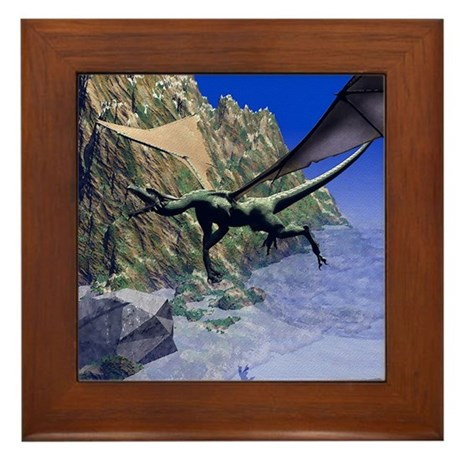 Flying Dragon Framed Tile