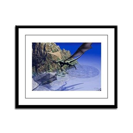Flying Dragon Framed Panel Print
