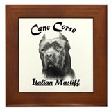 Cane Corso Head Framed Tile