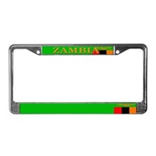 Zambia Zambian Flag License Plate Frame