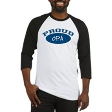 Proud Opa (blue) Baseball Jersey