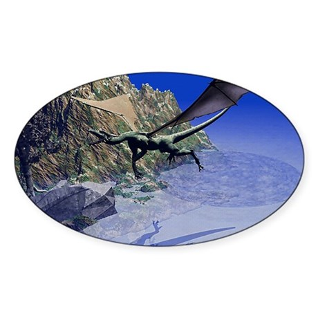 Flying Dragon Oval Sticker