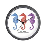 Sea Horse Vintage Art Wall Clock