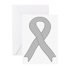Gray Ribbon Greeting Cards (Pk of 10)