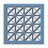 Blue Geometric Tile Coaster