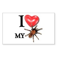 """I LOVE MY TARANTULA!"" sticker"