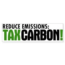 Tax Carbon Bumper Bumper Sticker