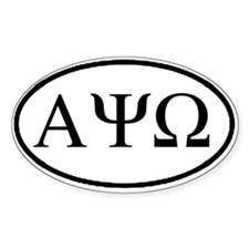 Alpha Psi Omega Oval Decal