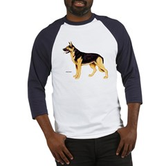 German Shepherd Dog (Front) Baseball Jersey