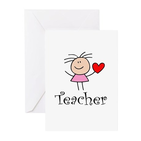 Cute TEACHER Greeting Cards (Pk of 10)