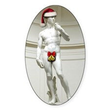 Santa David Oval Decal