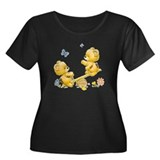 See Saw Bears Women's Plus Size Scoop Neck Dark T-