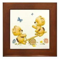 See Saw Bears Framed Tile