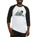 Get High: Mountain Climbing Baseball Jersey