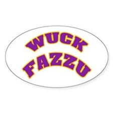 WUCK FAZZU Oval Decal
