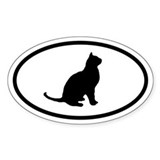 Cat Oval Decal