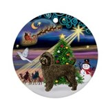 Xmas Magic & Chocolate PWD Ornament (Round)