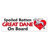 Love Blue Dane Bumper Bumper Sticker