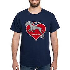 Love Black Dane T-Shirt