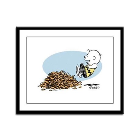 Charlie Brown Leaves Framed Panel Print