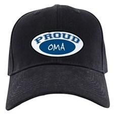 Proud Oma (blue) Baseball Hat