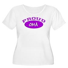 Proud Oma (purple) T-Shirt