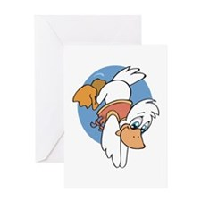Diving Duck Greeting Card