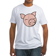 Cute Pig Fitted T-Shirt