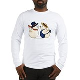 Cute Snowmen Image Long Sleeve T-Shirt
