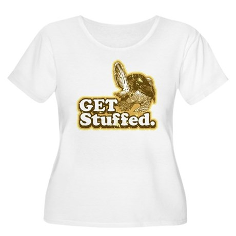Get Stuffed Turkey Women's Plus Size Scoop Neck T-