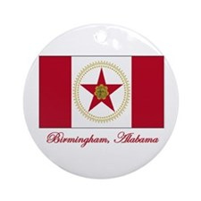 Birmingham AL Flag Ornament (Round)
