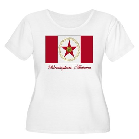 Birmingham AL Flag Women's Plus Size Scoop Neck T-
