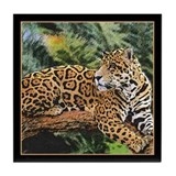 Jaguar on Branch Tile Coaster
