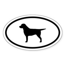 Labrador Oval Decal