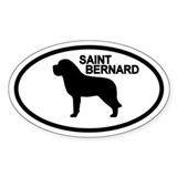 Saint Bernard Oval Decal