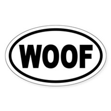 Basic Woof Oval Decal