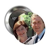 President George W. and Laura Bush Button
