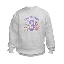 Unicorn Princess 3rd Birthday Sweatshirt