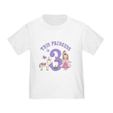 Unicorn Princess 3rd Birthday T